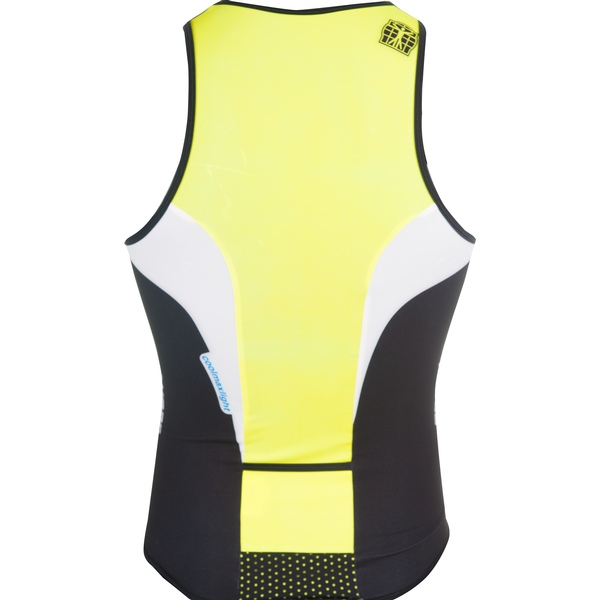 BIORACER TRI TOP ZIPPER WHITE/YELLOW UNISEX